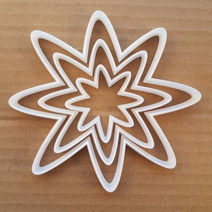 Picture of Flower Star Petal Plant Shape Cookie Cutter Dough Biscuit Pastry Fondant Sharp