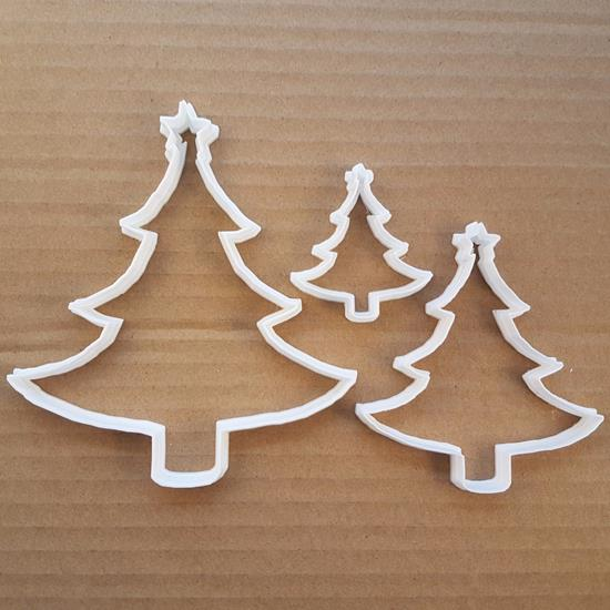 Picture of Christmas Tree Star Xmas Shape Cookie Cutter Dough Biscuit Pastry Fondant Sharp