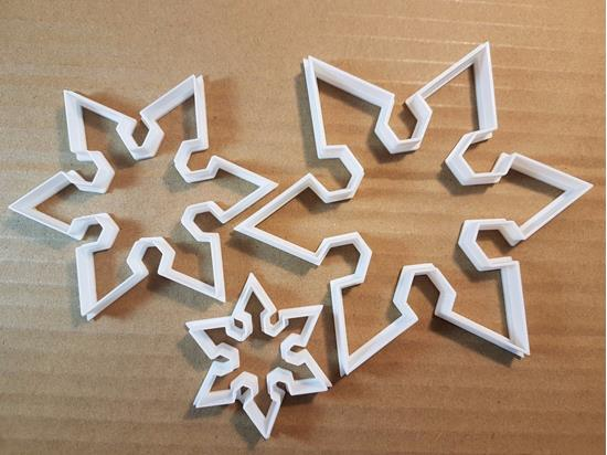 Picture of Snowflake Xmas Christmas Shape Cookie Cutter Dough Biscuit Pastry Fondant Sharp