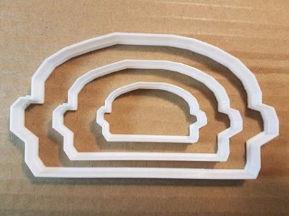 Picture of Burger Fast Food Takeaway Shape Cookie Cutter Dough Biscuit Pastry Fondant Sharp