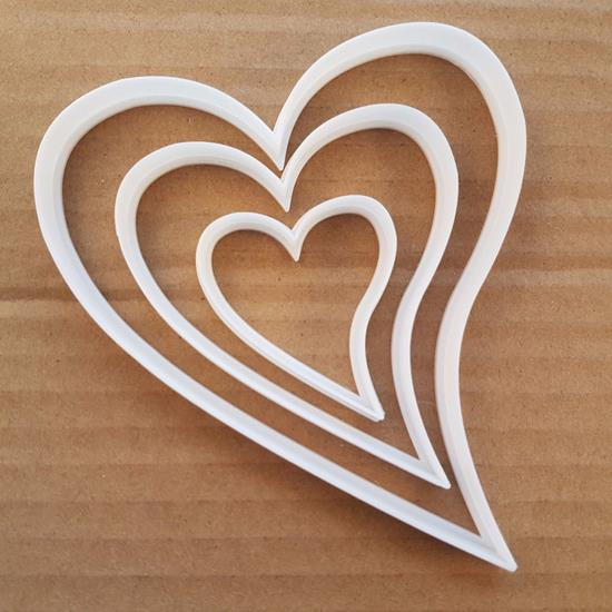 Picture of Heart Love Valentine's Day Shape Cookie Cutter Biscuit Pastry Fondant Sharp