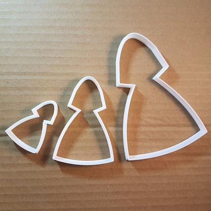 Picture of Bride Nun Veil Wedding Shape Cookie Cutter Dough Biscuit Pastry Fondant Sharp