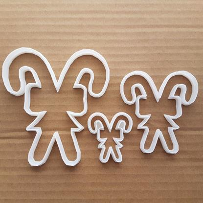 Picture of Candy Cane Sweet Xmas Shape Cookie Cutter Dough Christmas Pastry Fondant Sharp