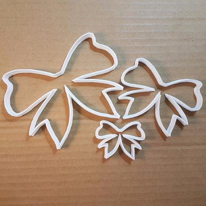 Picture of Bow Tie Ribbon Wrap Shape Cookie Cutter Dough Biscuit Pastry Fondant Sharp