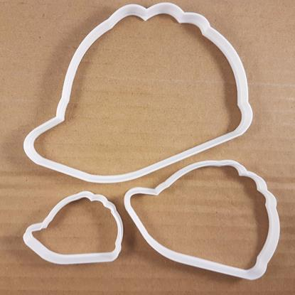 Picture of Hard Hat DIY Builder Shape Cookie Cutter Dough Biscuit Pastry Fondant Sharp