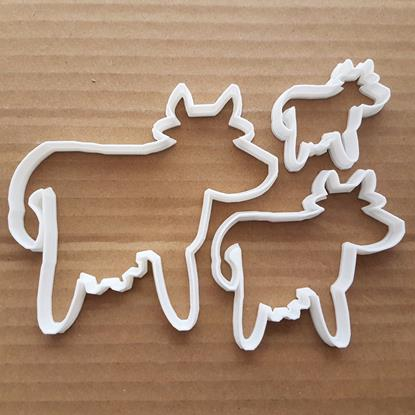 Picture of Cow Calf Animal Farm Milk Shape Cookie Cutter Dough Biscuit Pastry Fondant Sharp