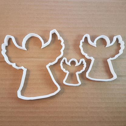 Picture of Angel Holy Wings Xmas Shape Cookie Cutter Dough Biscuit Pastry Fondant Sharp