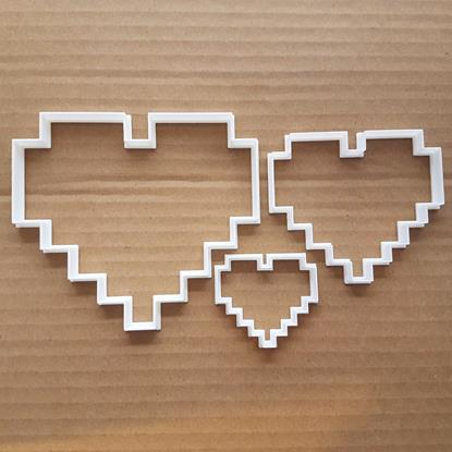 Picture of Heart 8 Bit Love Shape Cookie Cutter Biscuit Dough Fondant Valentine's Day Sharp