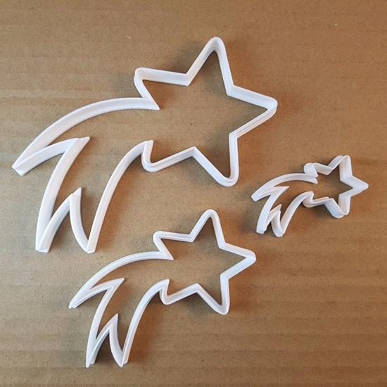 Picture of Shooting Star Firework Shape Cookie Cutter Dough Biscuit Pastry Fondant Sharp