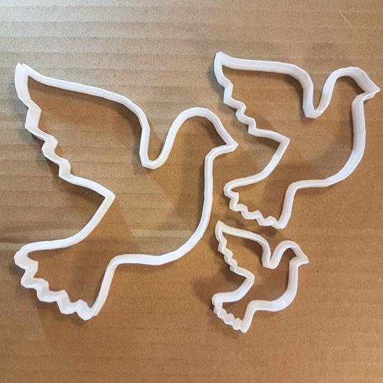 Picture of Bird Dove Pigeon Animal Shape Cookie Cutter Dough Biscuit Pastry Fondant Sharp