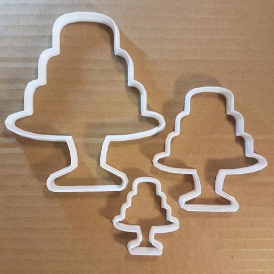 Picture of Cake Stand Wedding Party Shape Cookie Cutter Dough Biscuit Pastry Fondant Sharp