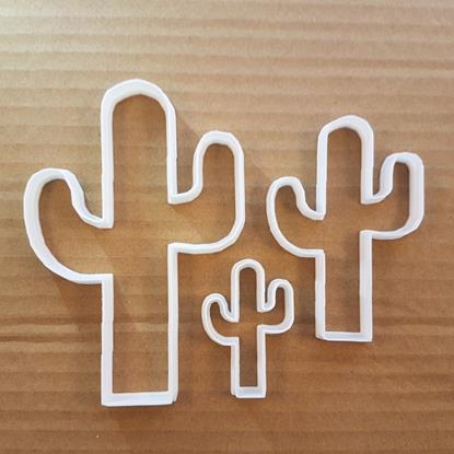 Picture of Cactus Cookie Cutter Desert Plant Dough Pastry Biscuit Cacti Shape Stencil