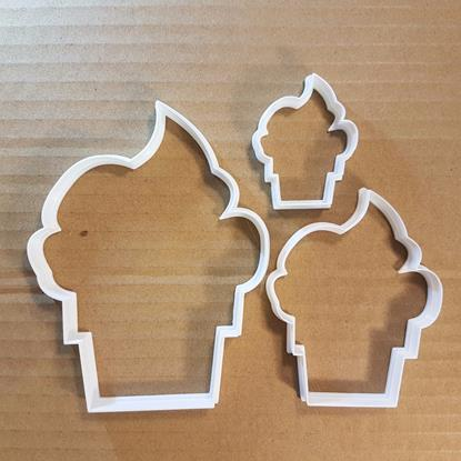 Picture of Cup Cake Fairy Icing Food Shape Cookie Cutter Dough Biscuit Pastry Fondant Sharp