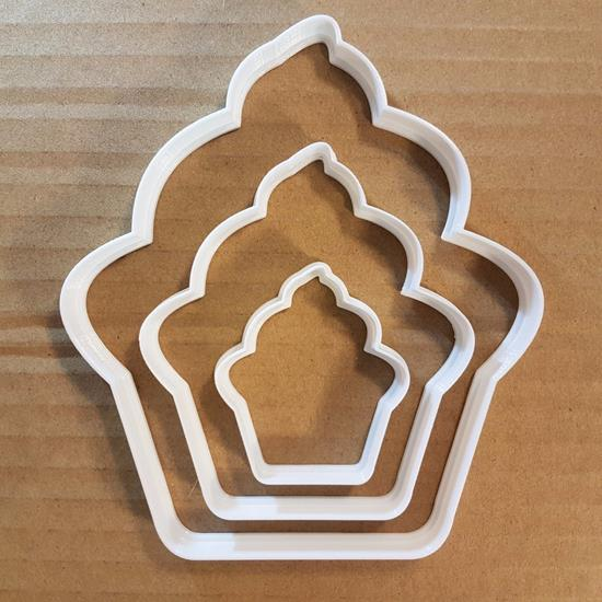 Picture of Cup Cake Patty Snack Food Shape Cookie Cutter Dough Biscuit Pastry Fondant Sharp
