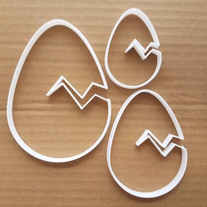 Picture of Easter Egg Cracked Shape Cookie Cutter Chocolate Biscuit Pastry Fondant Sharp