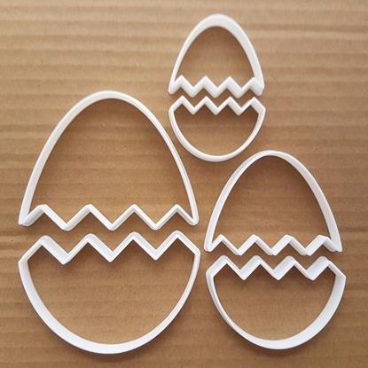 Picture of Easter Egg Decoration Cracked Shape Cookie Cutter Dough Chocolate Fondant Sharp