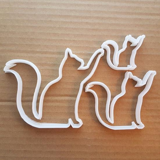 Picture of Cat Feline Pet Animal Tom Shape Cookie Cutter Dough Biscuit Pastry Fondant Sharp
