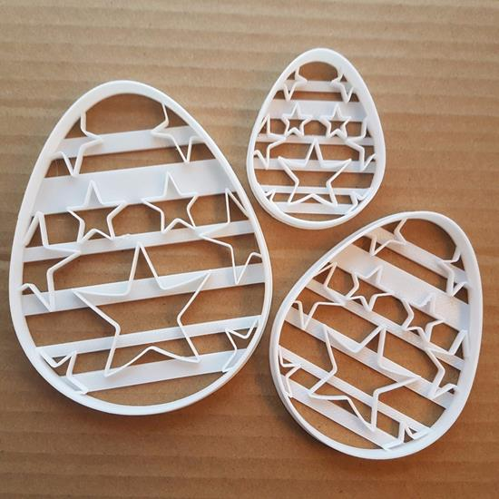 Picture of Easter Egg Decoration Shape Cookie Cutter Star Biscuit Chocolate Fondant Sharp
