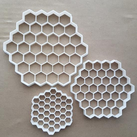 Honey Comb Bee Hexagon Shape Cookie Cutter Dough Biscuit Pastry Fondant Sharp Stencil Hive Honey Comb