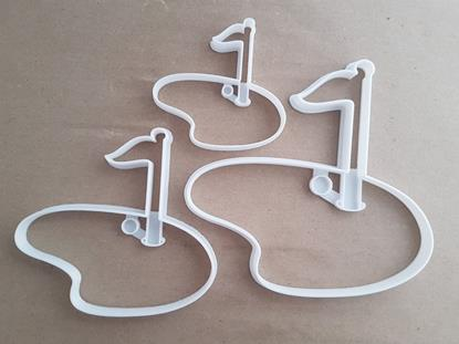 Golf Put Flag Sport Green Shape Cookie Cutter Dough Biscuit Pastry Fondant Stamp Stencil Sharp Game