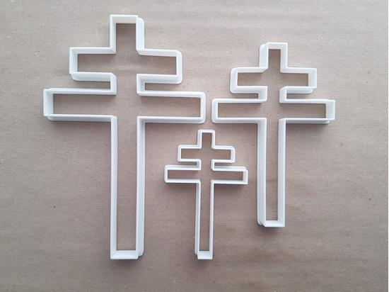 Cross Of Lorraine French Symbol Shape Cookie Cutter Dough Biscuit Fondant Sharp Stencil Croix De Lorraine France Christianity