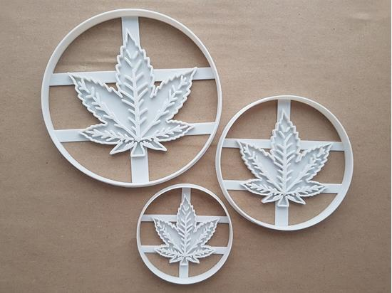 Cannabis Marijuana Leaf Shape Cookie Cutter Dough Biscuit Pastry Fondant Sharp Stencil Medicinal Weed Plant Leaves Herb