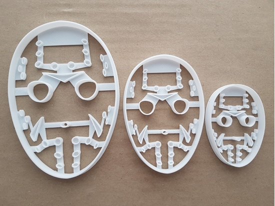 Friday Mask Halloween Hockey Shape Cookie Cutter Dough Biscuit Fondant Sharp Stencil Scary Spooky Face