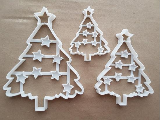 Christmas Tree Star Xmas Shape Cookie Cutter Dough Biscuit Pastry Fondant Sharp Stencil Bauble Decorations Decorate Plant