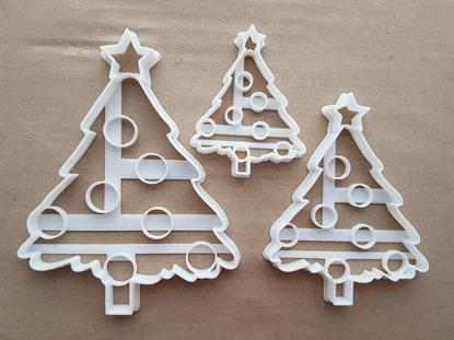 Christmas Tree Bauble Decorate Shape Cookie Cutter Dough Biscuit Fondant Sharp Stencil Xmas Decorations Star Plant