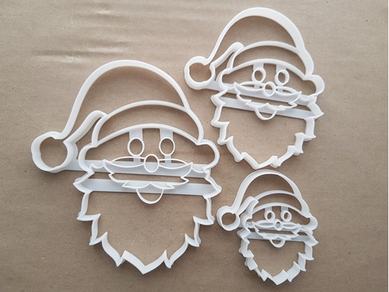 Santa Father Christmas Shape Cookie Cutter Dough Biscuit Pastry Fondant Sharp Stencil Claus Xmas Head Face