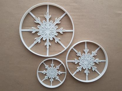 Snowflake Xmas Frost Christmas Shape Cookie Cutter Dough Biscuit Fondant Sharp Stencil Snow Flake Weather Winter