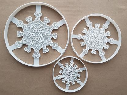 Snowflake Pattern Weather Xmas Shape Cookie Cutter Dough Biscuit Fondant Sharp Stencil Christmas Winter Snow Flake