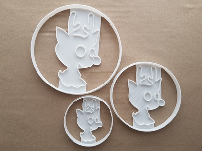 Baby Rudolph Christmas Deer Shape Cookie Cutter Dough Biscuit Fondant Sharp Stencil Xmas Red Nosed Reindeer Animal