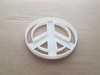 Peace Symbol Sign Shape Cookie Cutter Dough Biscuit Pastry Fondant Sharp Stencil Icon Love