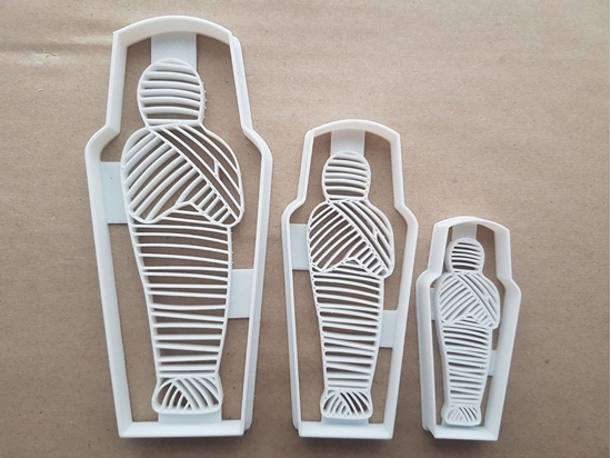 Mummy Sarcophagus Halloween Shape Cookie Cutter Dough Biscuit Fondant Sharp Stencil Ancient Egyptian Spooky Scary Bandaged