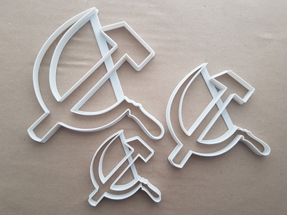Soviet Union Hammer Sickle Shape Cookie Cutter Dough Biscuit Fondant Sharp Stencil USSR Communism Symbol Icon Sign Russia