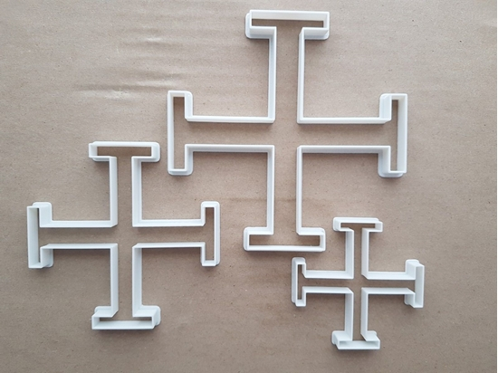 Cross Of Jerusalem Symbol Shape Cookie Cutter Dough Biscuit Pastry Fondant Sharp Stencil Icon Religious Spiritual