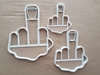 Middle Finger Swear Sign Shape Cookie Cutter Dough Biscuit Pastry Fondant Sharp Stencil