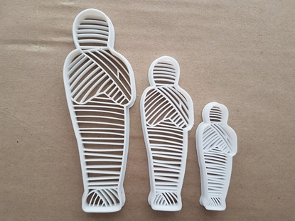 Mummy Egyptian Halloween Shape Cookie Cutter Dough Biscuit Pastry Fondant Sharp Stencil Spooky Scary