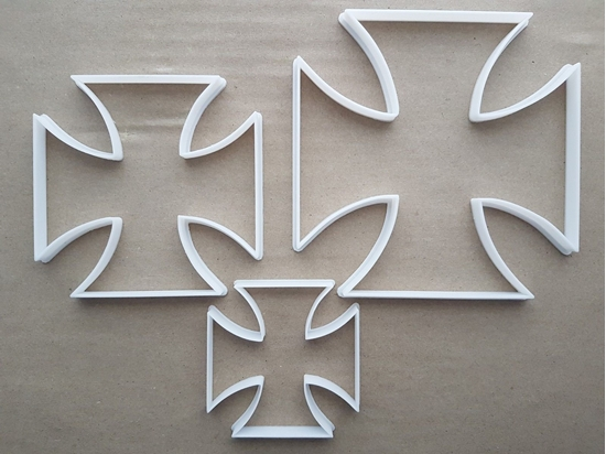 Pattee Cross Christian Religion Shape Cookie Cutter Dough Biscuit Fondant Sharp Stencil Spiritual Religious