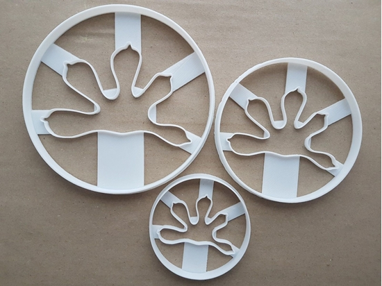 Gecko Foot Print Lizard Shape Cookie Cutter Dough Biscuit Pastry Fondant Sharp Paw Stencil Animal Reptile
