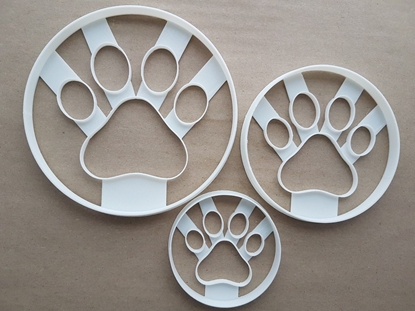 Dog Paw Print Pet Foot Shape Cookie Cutter Dough Biscuit Pastry Fondant Sharp Stencil Mammal Animal Puppy Claw Footprint