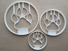 Cat Paw Print Feline Shape Cookie Cutter Dough Biscuit Pastry Fondant Sharp Stencil Kitten Kitty Foot Pet Animal