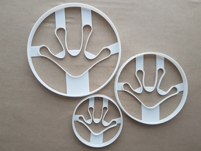 Frog Foot Print Amphibian Shape Cookie Cutter Dough Biscuit Fondant Sharp Stencil Animal Paw Pawprint Toad