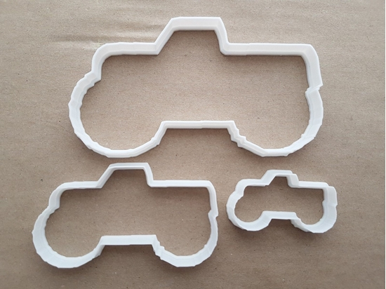Truck 4x4 Monster Pickup Shape Cookie Cutter Dough Biscuit Pastry Fondant Sharp Stencil Vehicle Car Tractor