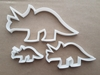 Triceratops Dinosaur Shape Cookie Cutter Dough Biscuit Pastry Fondant Sharp Stencil Animal Extinct