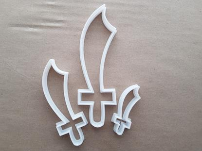 Sword Pirate Blade Shape Cookie Cutter Dough Biscuit Pastry Fondant Sharp Stencil Guard