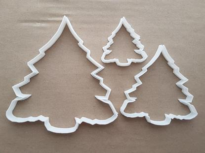 Christmas Tree Fern Xmas Shape Cookie Cutter Dough Biscuit Pastry Fondant Sharp Stencil Plant Fir Evergreen