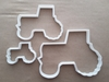 Tractor Farm Vehicle Shape Cookie Cutter Dough Biscuit Pastry Fondant Sharp Stencil Truck