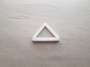 Triangle Sign Basic Geometry Shape Cookie Cutter Dough Biscuit Fondant Sharp Stencil Icon Symbol